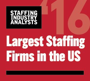 2016 Largest Staffing Firms in the US